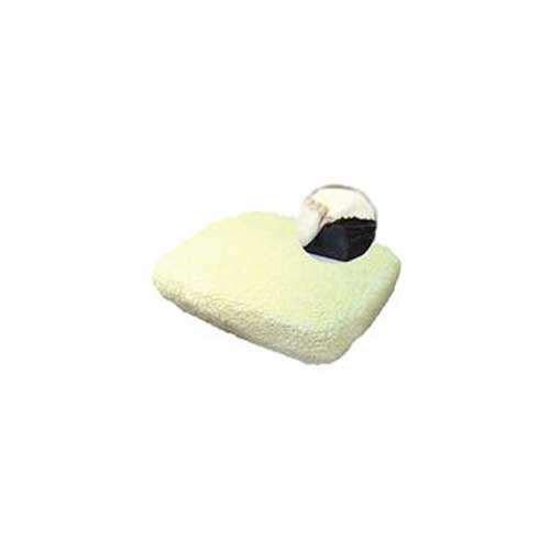 "Synthetic Sheepskin Wheelchair Cushion Cover- 18"" x 16"" x 4"""